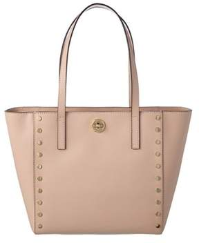 MICHAEL Michael Kors Rivington Leather Stud Tote. - PINK - STYLE