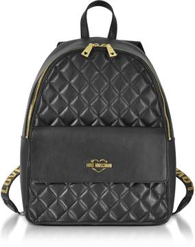 Love Moschino Black Superquilted Eco-Leather Backpack