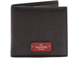 Valentino Micro-Rockstud embellished leather wallet