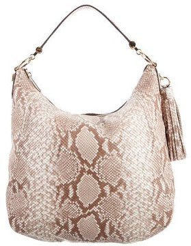 MICHAEL Michael Kors Embossed Leather Hobo - NEUTRALS - STYLE
