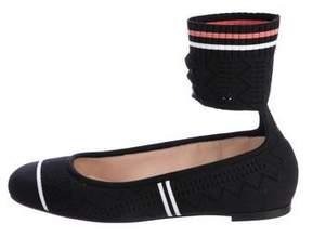 Fendi Ankle-Strap Ballerina Flats