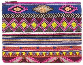Forever 21 Colorful Geo Beaded Clutch