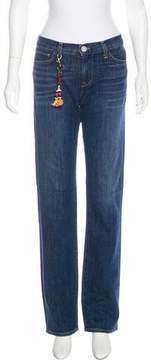 Figue Mid-Rise Straight-Leg Jeans
