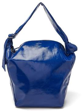 Isabel Marant Eewa Patent Leather Shoulder Bag - Womens - Blue