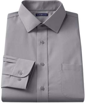 Croft & Barrow Slim-Fit Solid Broadcloth Spread-Collar Dress Shirt