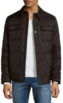 Rainforest Quilted Button-Front Jacket