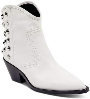 Marc Fisher Baily Studded Leather Western Booties