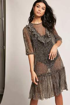 Forever 21 Sheer Metallic Dress