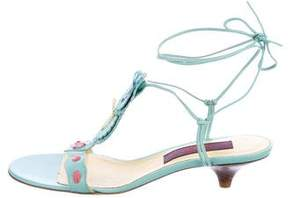 Kenzo Leather Lace-Up Sandals