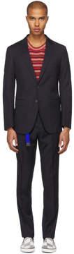 Lanvin Navy Pinstripe D8 Attitude Suit