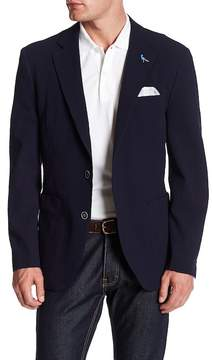 Tailorbyrd Notch Lapel Two Button Solid Textured Sport Coat