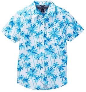 Tommy Hilfiger Palm Short Sleeve Printed Shirt (Big Boys)