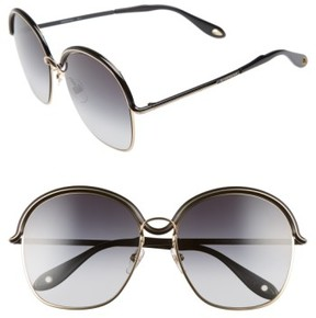 Women's Givenchy 7030/s 58Mm Oversized Sunglasses - Gold/ Black