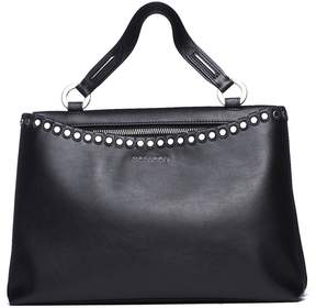 Orciani Handle Bag Sith Studs In Black Leather