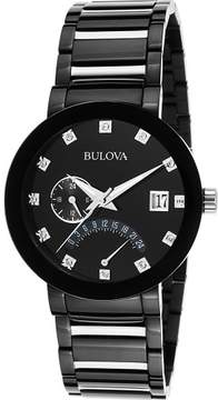 Bulova Watches Mens Diamond Two-Tone Ion Plated Stainless Steel Watch