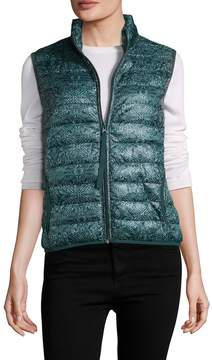 Velvet by Graham & Spencer Women's Printed Puffer Vest
