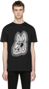 McQ Black Rabbit Skull T-Shirt
