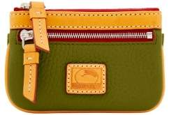 Dooney & Bourke Patterson Leather Small Coin Case - OLIVE - STYLE