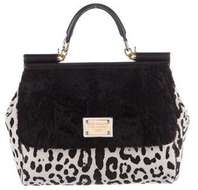 Dolce & Gabbana Persian Lamb Miss Sicily Bag - ANIMAL PRINT - STYLE