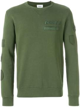 Dondup military insignia embroidered sweater