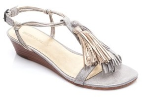 Bernardo Women's Footwear Court Fringe Leather Sandal
