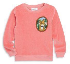 Mini Rodini Baby's, Toddler's, Little Girl's & Girl's Fox Velour Cotton Sweatshirt