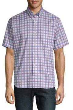 Tailorbyrd August Plaid Short-Sleeve Cotton Button-Down Shirt