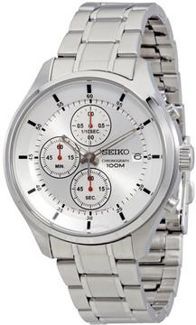 Seiko Silver Dial Chronograph Men's Watch