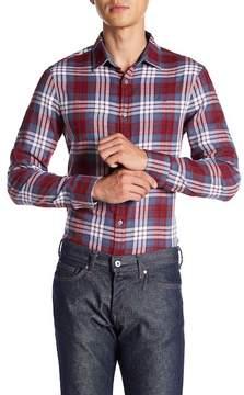 Original Penguin Roll Sleeve Plaid Heritage Slim Fit Shirt