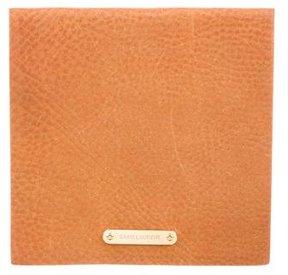 Saint Laurent Logo Leather Pouch - BROWN - STYLE