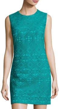 Cynthia Steffe Jade Sleeveless Geometric Pattern Sheath Dress