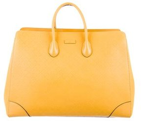 Gucci Diamante Leather Tote - YELLOW - STYLE