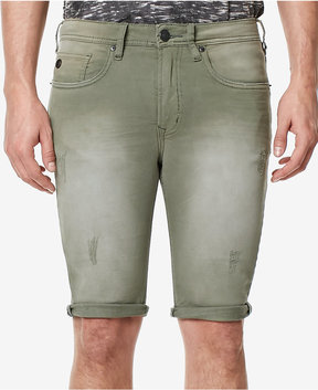 Buffalo David Bitton Men's Parker-x Skinny-Fit Stretch Destroyed Denim Shorts