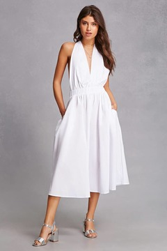 Forever 21 Halter-Neck Flowy Dress