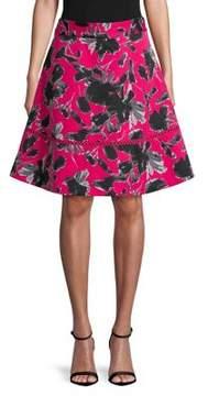 Isaac Mizrahi IMNYC Printed High-Waist Circle A-Line Skirt