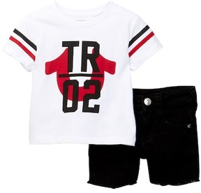 True Religion T02 Tee & Denim Shorts Set (Baby Boys)