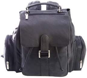Royce Leather Colombian Leather Expandable Backpack