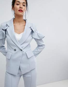 Elliatt Frill Tailored Jacket