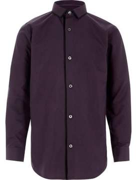 River Island Boys purple tipped long sleeve shirt