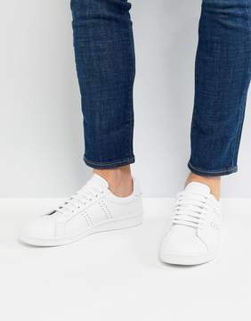 Fred Perry B721 Leather Sneakers In White