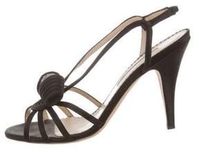Oscar de la Renta Satin Slingback Sandals
