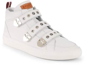 Bally Men's Heck Leather High-Top Sneakers