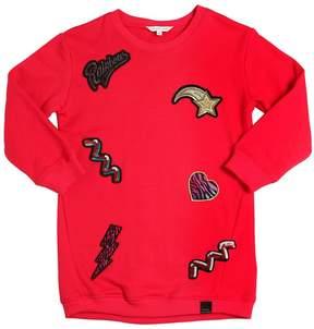 Little Marc Jacobs Cotton Sweatshirt Dress W/ Patches