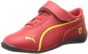 Puma Drift Cat 6 Leather Ferrari Velcro Sneaker,Rosso Corsa/Rosso Corsa/Vibrant Yellow,5 M US Toddler