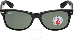 Ray-Ban Open Box New Wayfarer Polarized Green Sunglasses RB2132 901/58