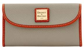 Dooney & Bourke Pebble Grain Continental Clutch Wallet - SMOKE - STYLE