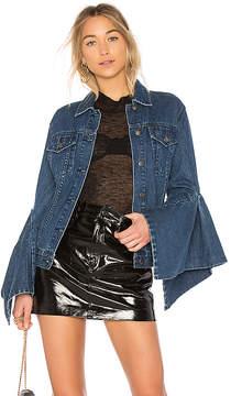 Edit Denim Jacket With Box Pleat Sleeve.