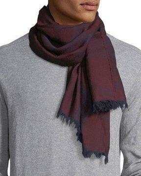 Eton Plaid Wool Scarf