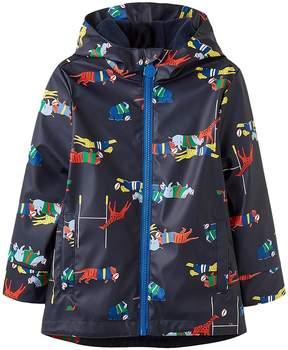Joules Kids Printed Rubber Coat Boy's Coat