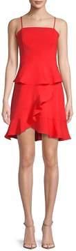 Collective Concepts Women's Spaghetti Strap Ruffle Dress